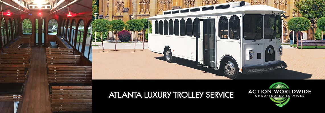 ATL Wedding Trolley Limo Service - Atlanta Trolley Service
