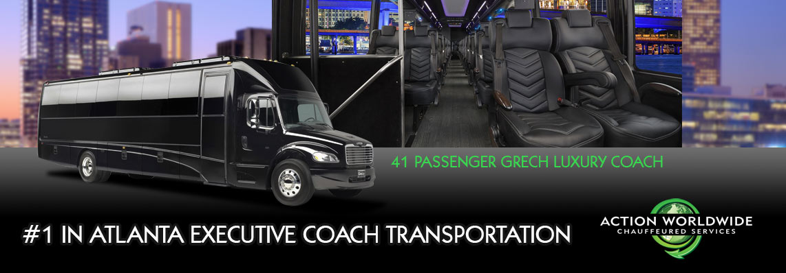 Experience Atlanta's Most Newest Comfortable Executive Coach Charter Service