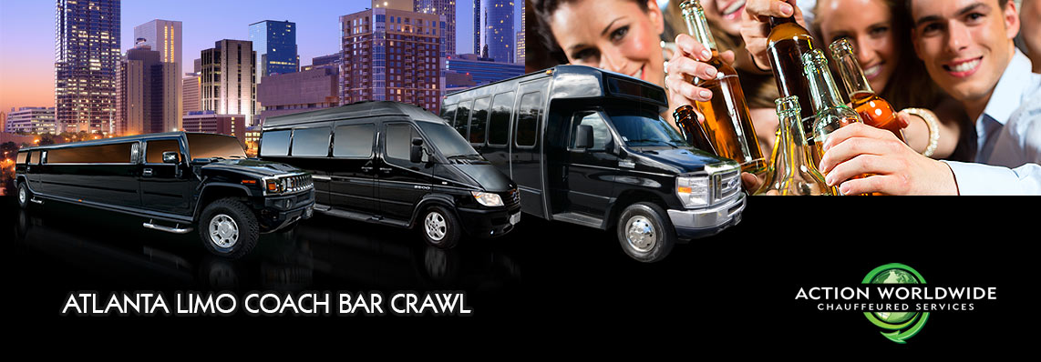 Best Atlanta Bar Crawls & Nightlife Entertainment Limo Coach Service