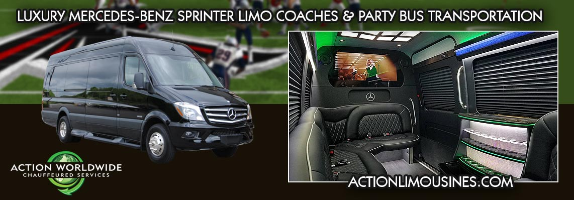 Mercedes-Benz Stadium SPRINTER Limo COACHES & Party Bus Services